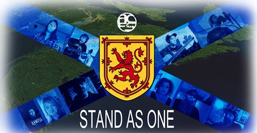 Nova Scotia flag design for Stand as One single